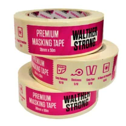 Walther Strong Premium 38mm Low Tack Masking Tape (x3)