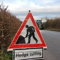 Goop prevents punctures caused by hedge cutting