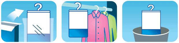 Using Damp Rid wardrobe moisture absorbers