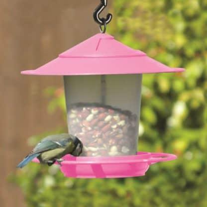 Etree Pink Hanging Bird Feeder