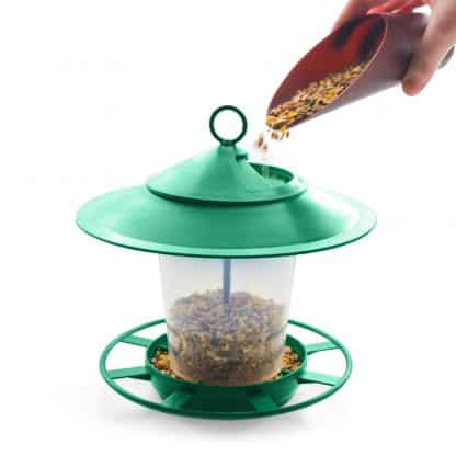 Filling the Etree Bird Feeder