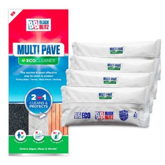 4 pouches of Block Blitz Multi-Pave Cleaner