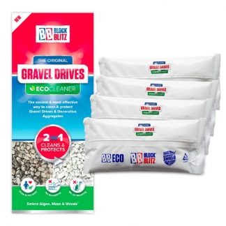 4 pouches of Block Blitz Gravel and Aggregate Cleaner