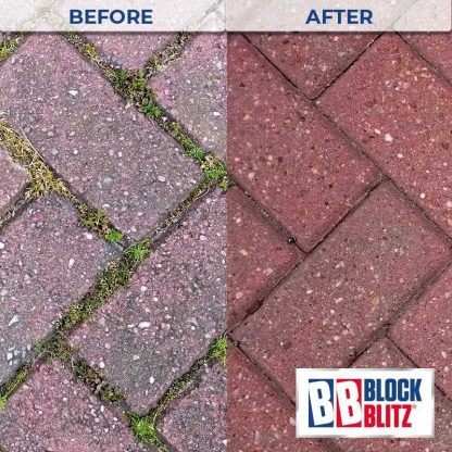 Block Paving after 3 treatments with Block Blitz Block Paving Cleaner
