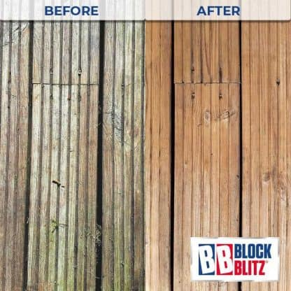 Decking after 3 treatments of Block Blitz Multi-Pave