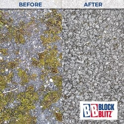 Tarmac drive after 3 applications of Multi-Pave Cleaner