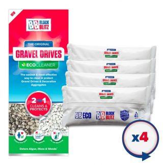 4 Pouches of Block Blitz Gravel Cleaner